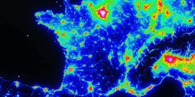 carte pollution lumineuse france La carte de la pollution lumineuse pour bien profiter de la Nuit