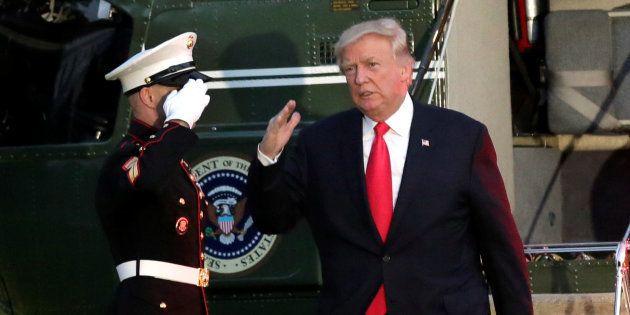 Donald Trump, à son retour de Hambourg le 8