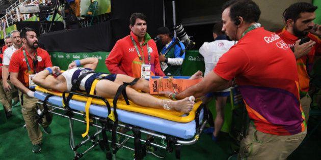 La grave blessure d'un gymnaste français, Samir Aït-Saïd, aux