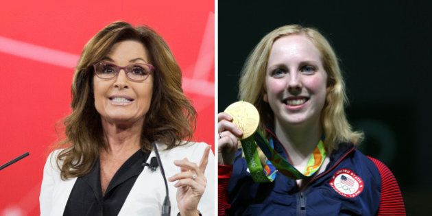 Sarah Palin profite de la victoire de Virginia Thrasher, 1ère médaille d'or des JO 2016, pour vanter...