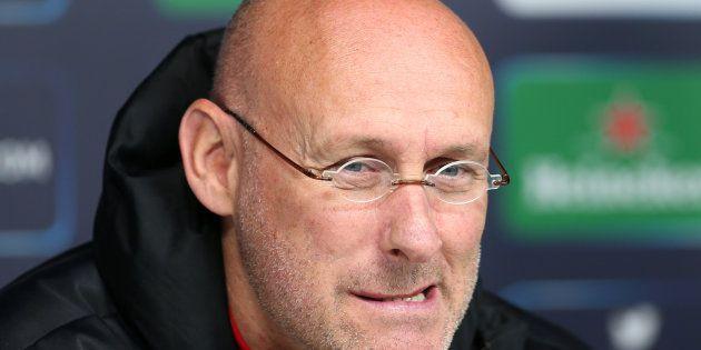 Bernard Laporte, alors coach de Toulon, en mai 2015 au stade de