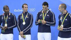 La France décroche sa 1ère médaille aux JO avec le relais 4x100 m nage