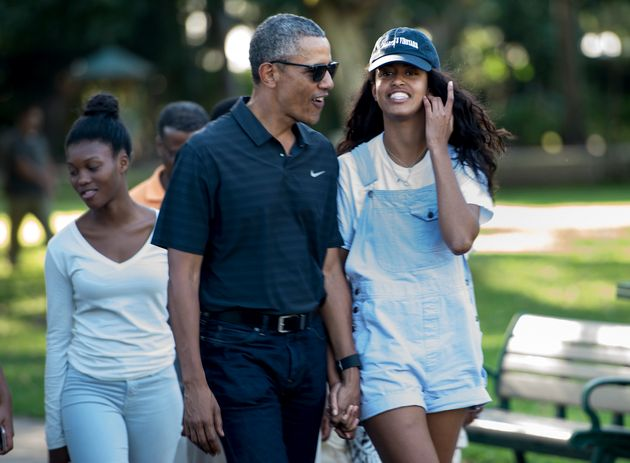 Barack Obama et sa fille Malia au zoo d'Honolulu le 2 janvier