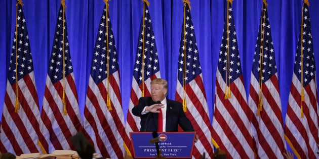 Donald Trump lors de sa fameuse conférence de presse. REUTERS/Lucas
