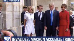 Les images de la journée à Paris des couples Macron et