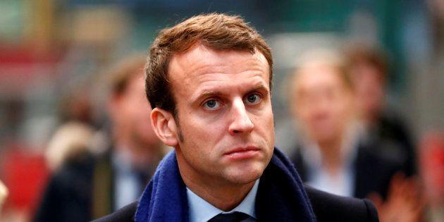 Emmanuel Macron en Allemagne, le 10 janvier. REUTERS/Fabrizio