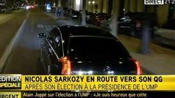 Sarkozy prend le couloir de bus et irrite les