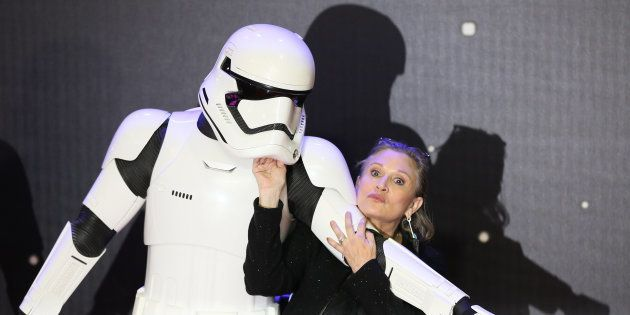 Carrie Fisher à Londres en décembre