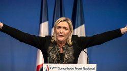 Marine Le Pen réélue présidente du FN avec 100% des