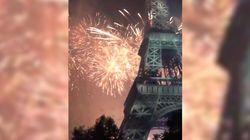 Le feu d'artifice du 14-Juillet à la Tour Eiffel vu des réseaux