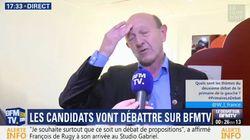 L'interview surréaliste de Jean-Luc Bennahmias dans sa loge avant le