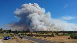 Les images impressionnantes de l'incendie qui a brûlé 800 hectares dans les