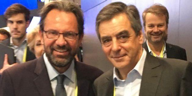 Frédéric Lefebvre et François Fillon au CES de Las Vegas, en janvier