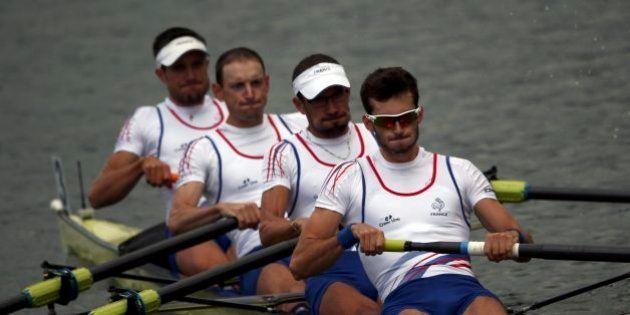 2016 Rio Olympics - Rowing - Repechage - Lightweight Men?s Four Repechages - Lagoa Stadium - Rio De Janeiro,...