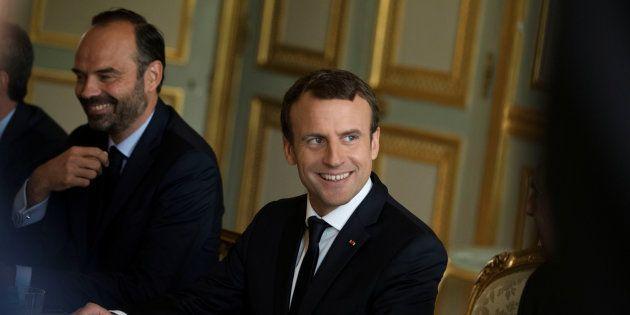 Emmanuel Macron et Edouard Philippe à l'Elysée le 12 juillet