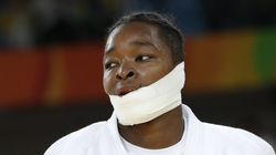 La blessure d'Audrey Tcheuméo aux JO lui a valu un sacré bandage au