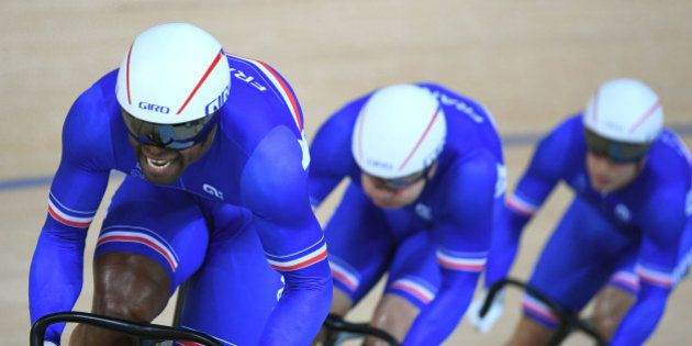 Médaille de bronze pour les cyclistes de l'équipe de France de vitesse aux JO de
