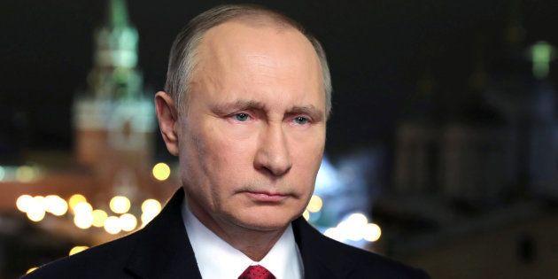 Le président russe Vladimir Putin lors de ses voeux annuels à Moscou, le 31 décembre 2016. Sputnik/Mikhail...