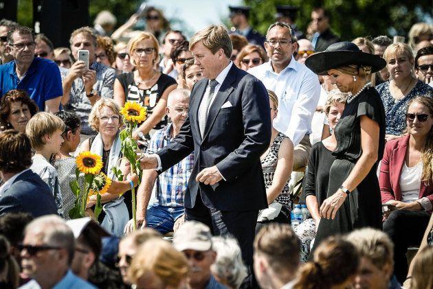 Le roi Willem-Alexander des Pays-Bas et la reine Maxima le 17 juillet à