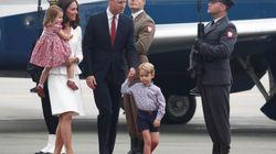 Charlotte et George n'avaient pas l'air ravi du voyage diplomatique de leurs parents en