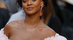 Rihanna en tenue de princesse à la première de