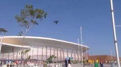 Une grosse caméra chute dans le Parc olympique de Rio, trois personnes