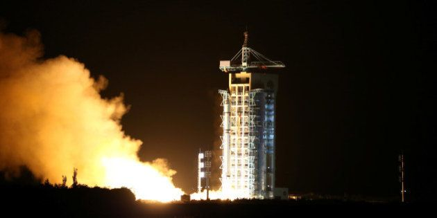 World's first quantum satellite is launched in Jiuquan, Gansu Province, China, August 16, 2016. China...