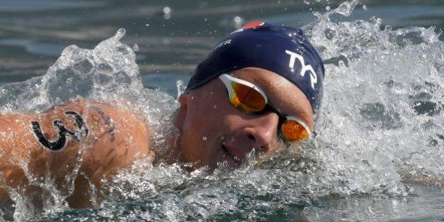 2016 Rio Olympics - Marathon Swimming - Final - Men's 10km Marathon Swimming - Fort Copacabana - Rio...