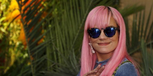 Singer and songwriter Lily Allen arrives for the world premiere