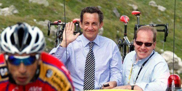 Nicolas Sarkozy sur le Tour de France en