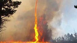 Un pompier américain filme une immense tornade de