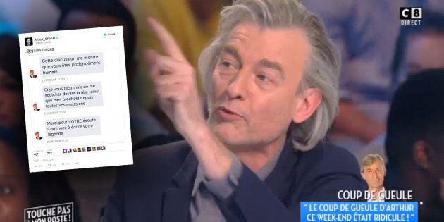 Arthur dévoile le double visage de Gilles Verdez en déterrant des messages