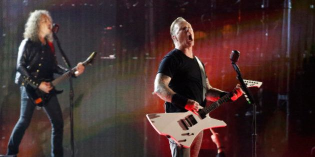 Metallica performs during the Concert for Valor on the National Mall on Veterans' Day in Washington,...