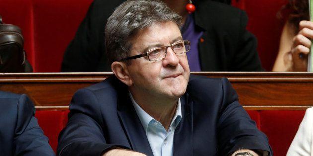 Jean-Luc Mélenchon à l'Assemblée nationale à Paris, le 12