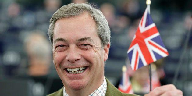 Nigel Farage, leader de l'UKIP le 16 janvier 2017 au parlement européen de Strasbourg. REUTERS/Christian