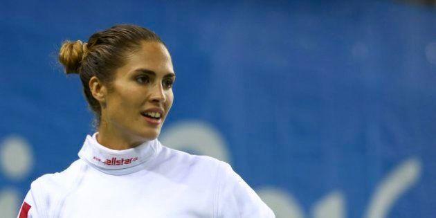 2016 Rio Olympics - Modern Pentathlon - Ranking Round - Women's Fencing Ranking Round - Youth Arena -...