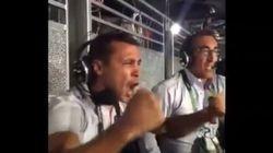 La joie incontrôlable de Brahim Asloum après la victoire d'Estelle