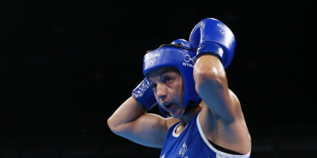 2016 Rio Olympics - Boxing - Semifinal - Women's Fly (51kg) Semifinals Bout 252 - Riocentro - Pavilion...