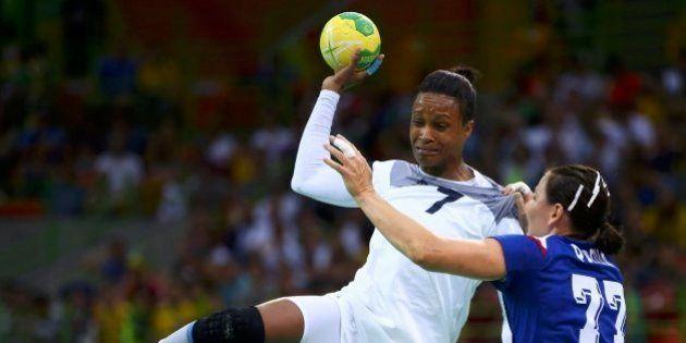 2016 Rio Olympics - Handball - Final - Women's Gold Medal Game France v Russia - Future Arena - Rio de...