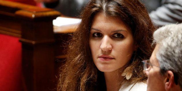 Marlène Schiappa lors des questions au gouvernement à l'Assemblée nationale le 12