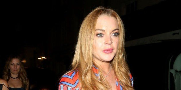 Photo by: KGC-172/182/STAR MAX/IPx 2016 6/8/16 Lindsay Lohan is seen at Lou Lou's Private Members Club...