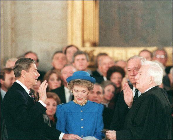 En 1985, le président Ronald Reagan a dû se réfugier à l'intérieur du Capitole pour prêter
