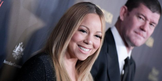 Mariah Carey, left, and James Packer attend the 2016 G'Day USA LA Gala held at Vibiana on Thursday, Jan....