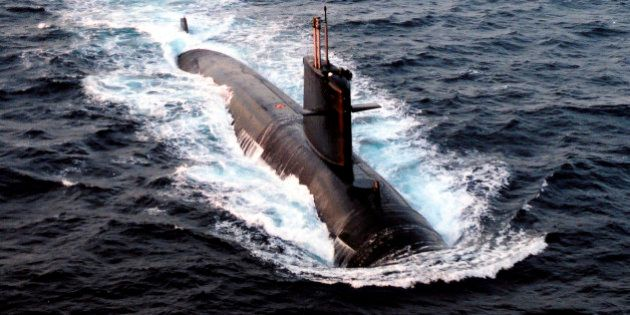 The French nuclear-powered submarine Emeraude is seen in this undated file photo released June 10, 2009...