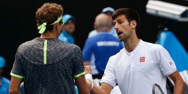 Denis Istomin, qui vient d'éliminer Novak Djokovic à l'Open d'Australie le 19 janvier
