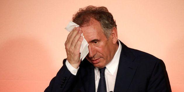 MoDem en conférence de presse à Paris le 21 juin, après sa