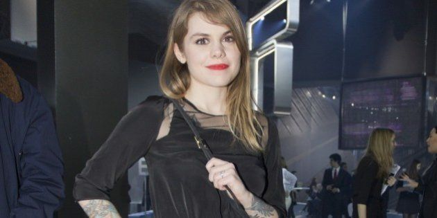 French Singer Coeur de Pirate poses prior to the H&M ready-to-wear fall/winter 2014-2015 fashion collection...