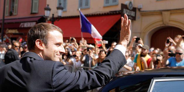 Le Président Emmanuel Macron lors de la commémoration de l'attentat de Nice sur la Promenade des Anglais,...