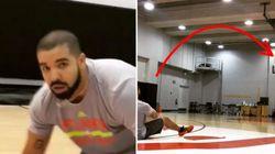 Drake réussit un tir dingue du milieu d'un terrain de