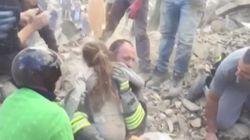 Une fillette de dix ans sauvée des décombres en